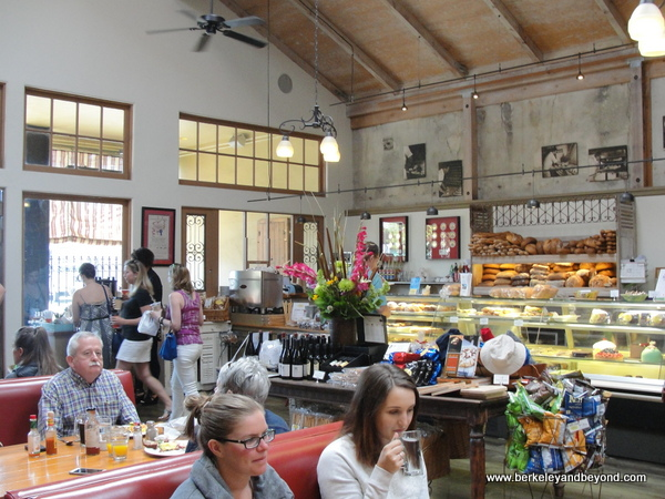 interior of Costeaux French Bakery & Cafe in Healdsburg, California