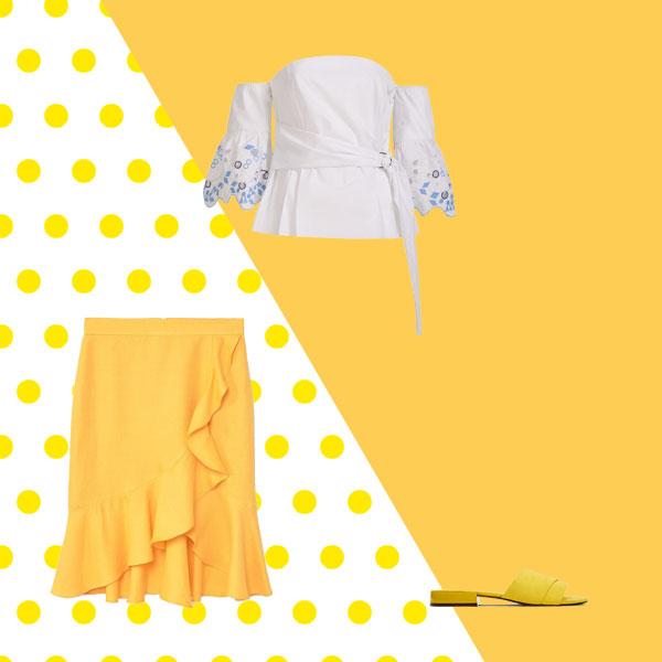 Bir Omzu Açık Bluzla 4 Farklı Kombin
