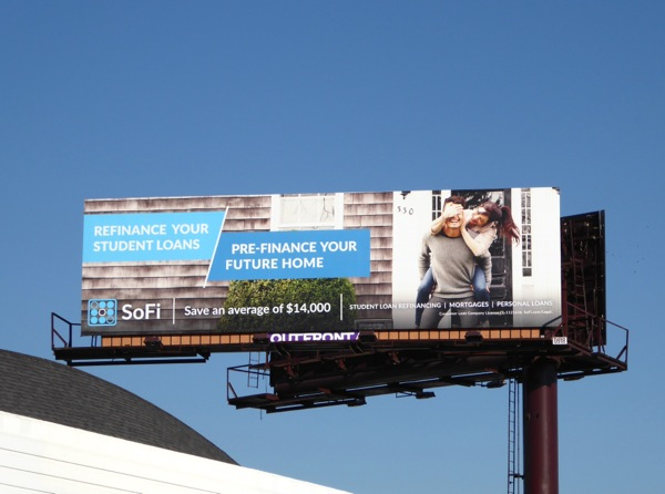 SoFi Pre-finance future home billboard