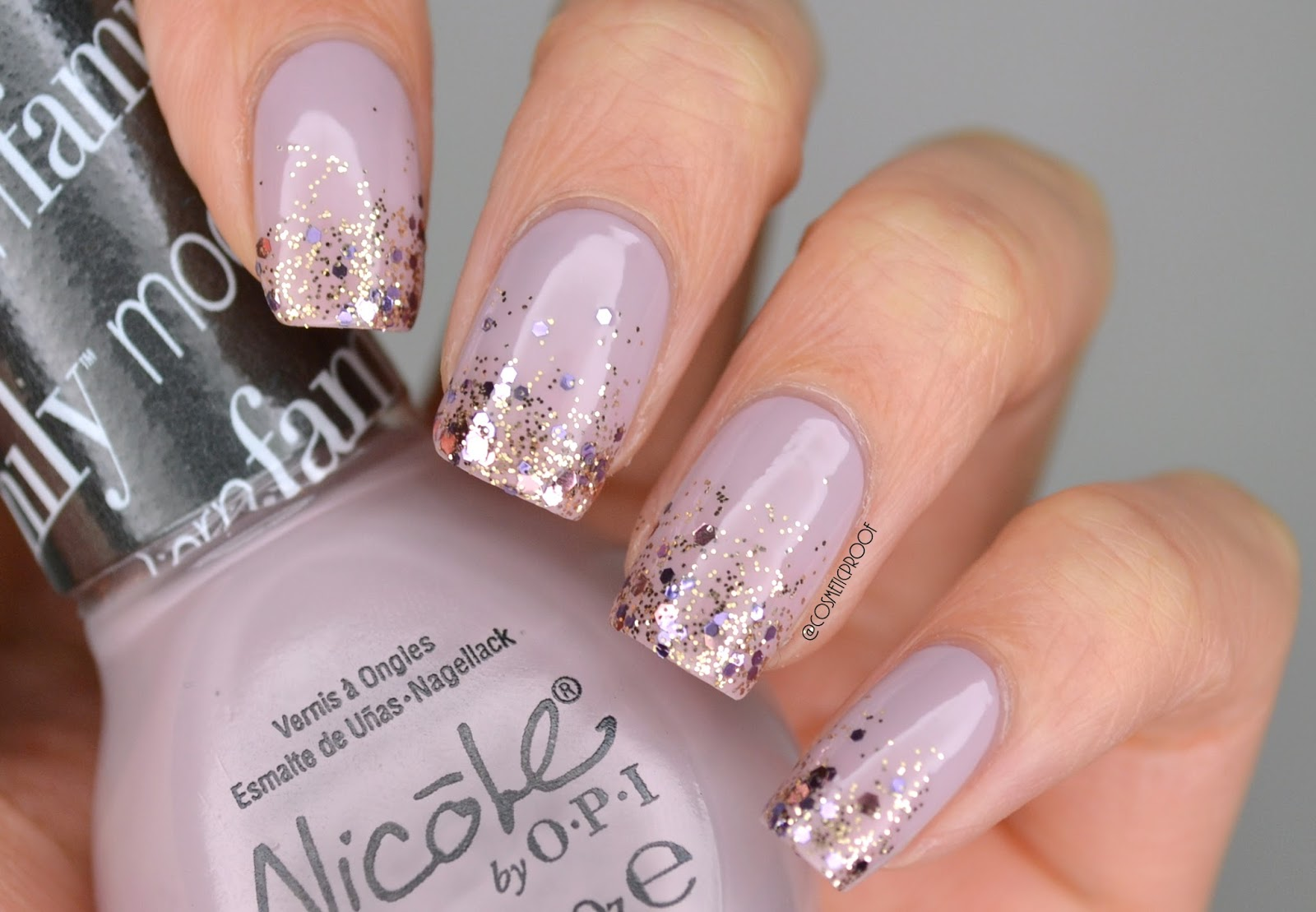 NAILS | Purple Glitter Gradient with Nicole by OPI | Cosmetic Proof ...