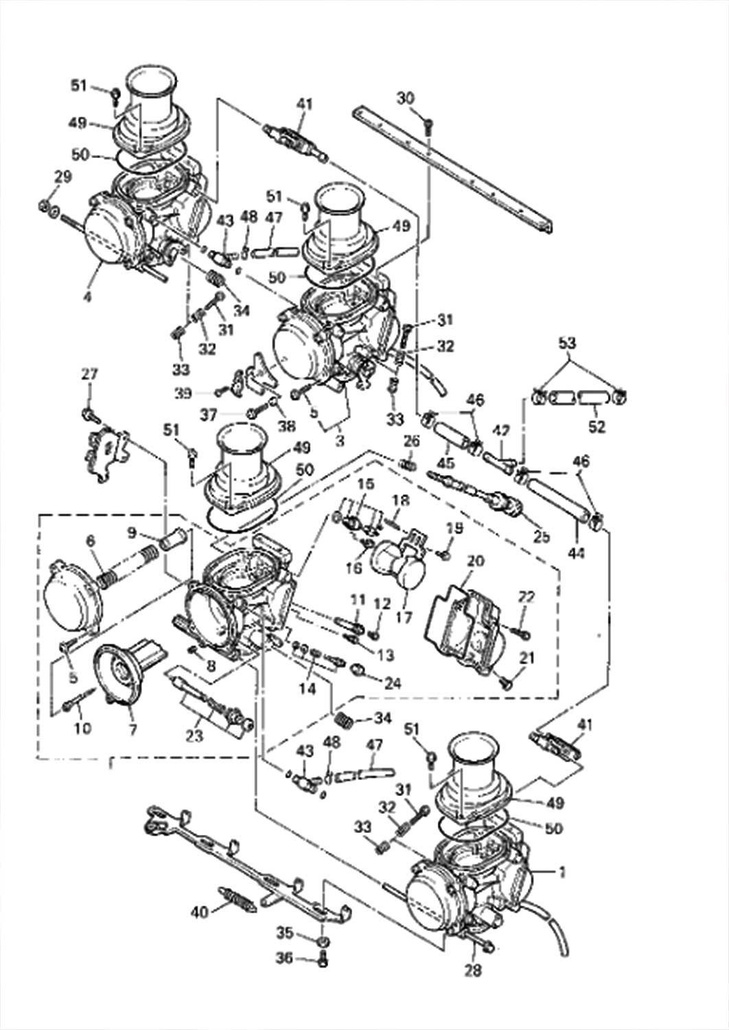 Yamaha Yzf600r Carburetor Diagram