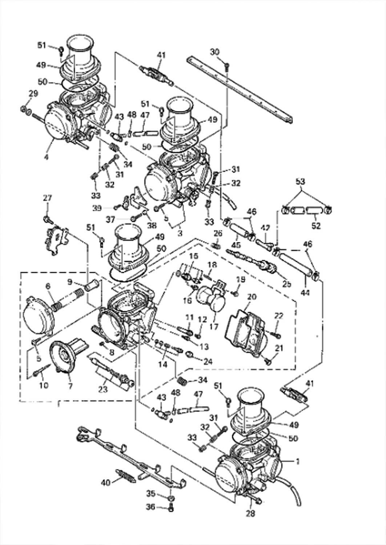 yamaha yzf600r carburetor diagram [ 1062 x 1500 Pixel ]