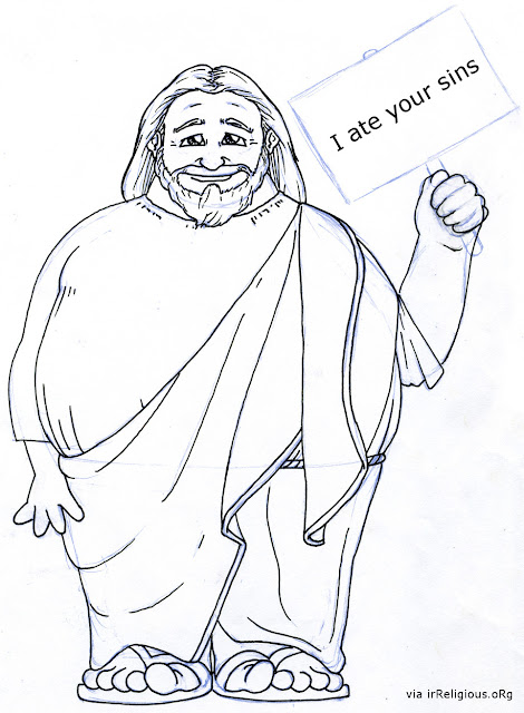 Fat Jesus Ate Your Sins Funny Cartoon Picture