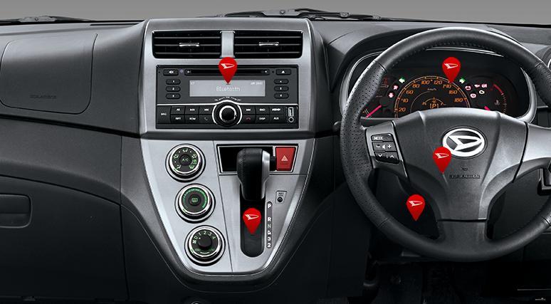 Fitur Terbaru Daihatsu New Sirion 2015 - Interior