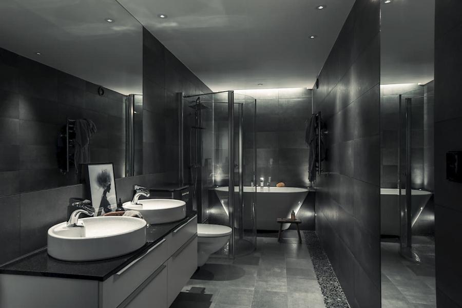 Chłodna nowoczesność na 92 m, wystrój wnętrz, wnętrza, urządzanie mieszkania, dom, home decor, dekoracje, aranżacje, styl nowoczesny, styl industrialny, styl rustykalny, styl nowoczesny, styl industrialny, styl rustykalny, kuchnia, jadalnia, salon, kitchen, living room