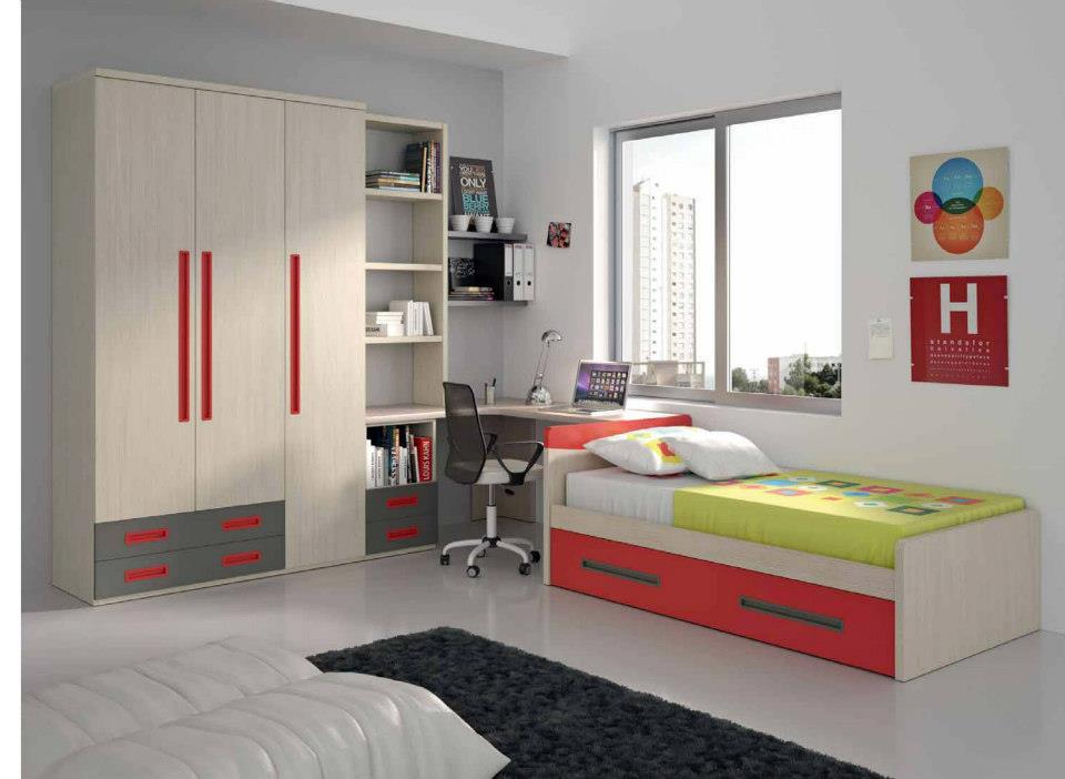 Dormitorios juveniles economicos for Dormitorios juveniles con armario esquinero