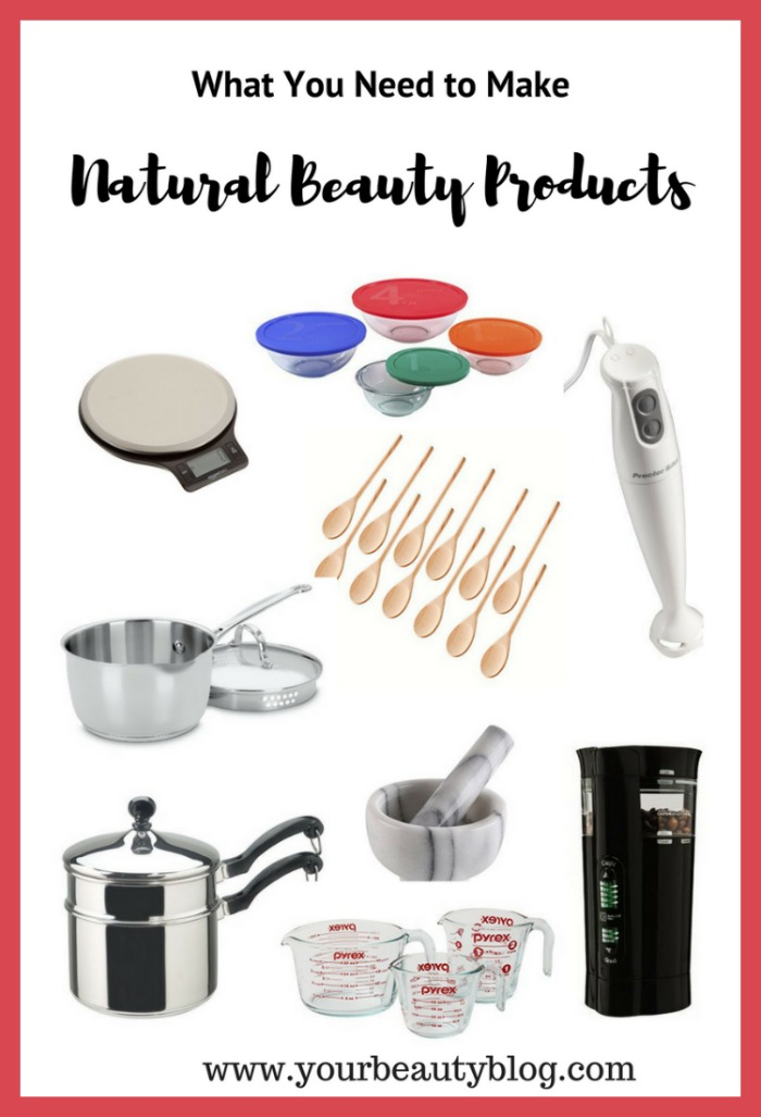 what you need to make natural beauty products