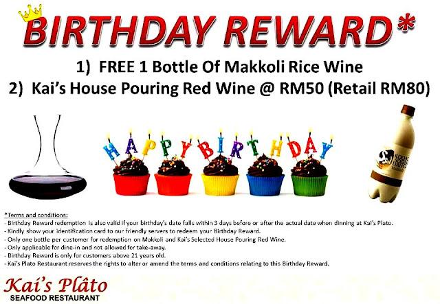 Kai's Plato Birthday Promotion