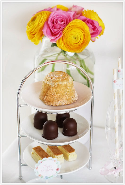Dessert etagere for a tea party