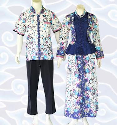 Model Gamis Batik Sarimbit pasangan