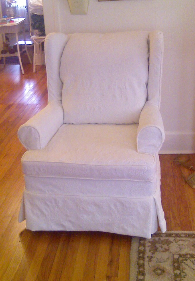 Cozy Cottage Slipcovers Mattelasse Wing Chair Slipcover