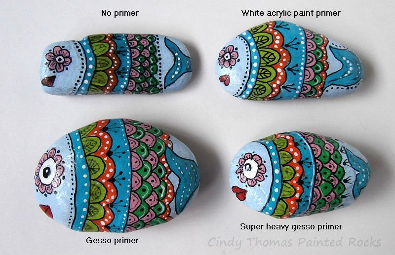 Painting Rock & Stone Animals, Nativity Sets & More: Is Gesso a Good Primer  for Painted Rocks?