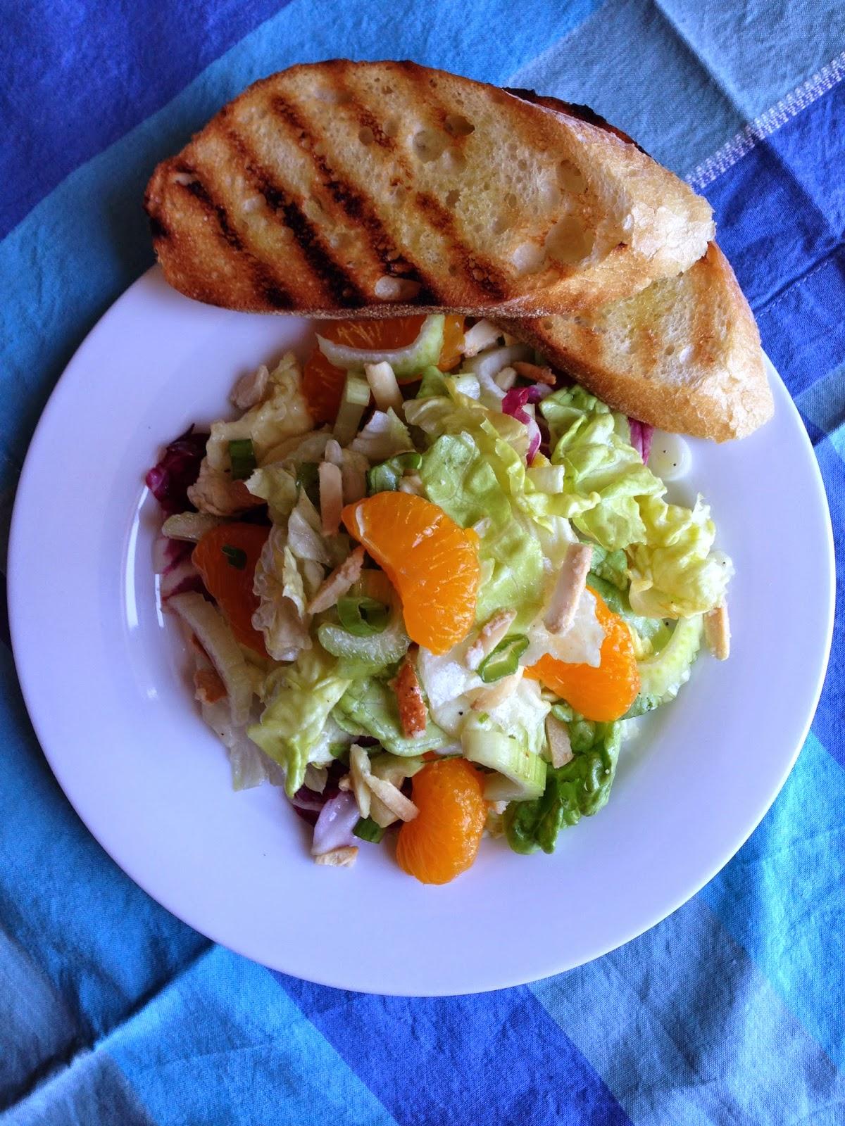 Mandarin Orange and Candied Almond Salad