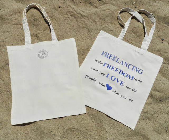 #SpreadTheWordWear Freelancing is Freedom Blue Tote