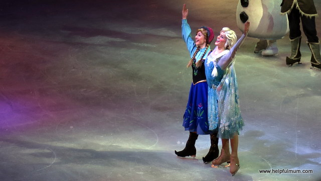 Anna and Elsa Frozen Disney on Ice