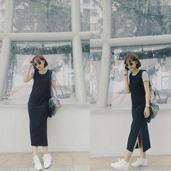 Xem mỹ nữ việt chọn giày Sneaker đế cao bắt cặp hoàn hảo cùng váy h10è