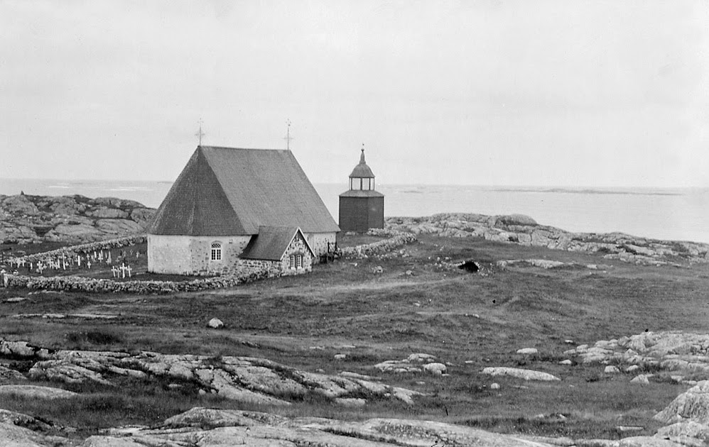 Kökar Church at Åland islands, Åland / Ahvenanmaa ( in the Baltic Sea), Finland, unknown photographer, c. 1890. The church at Kökar island was inaugurated in 1784.