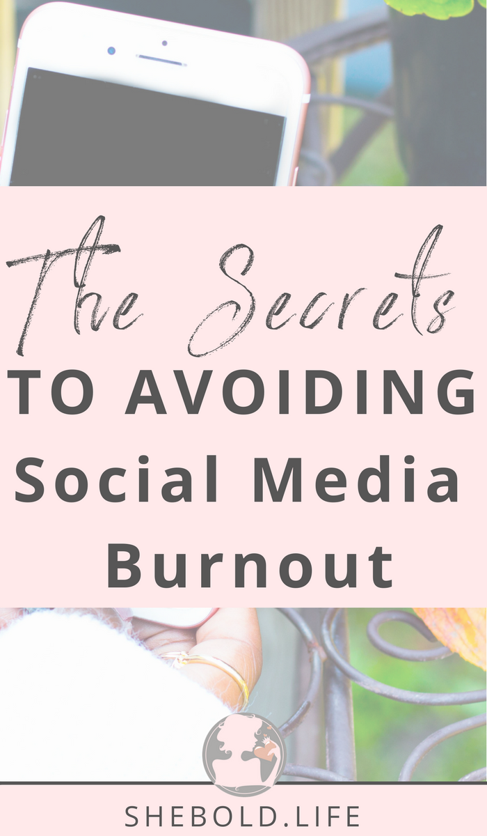 the  secret to avoiding social media burnout