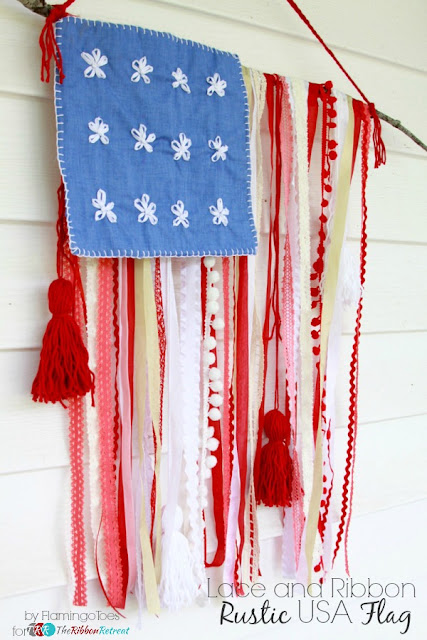 ribbon-rustic-usa-flag ribon lace