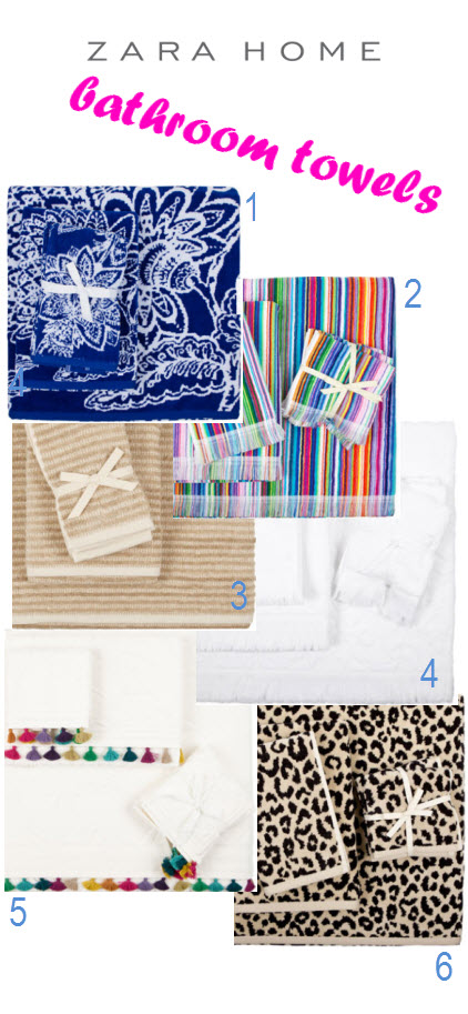 to da loos zara home online shop launches in canada zara bathroom towels. Black Bedroom Furniture Sets. Home Design Ideas