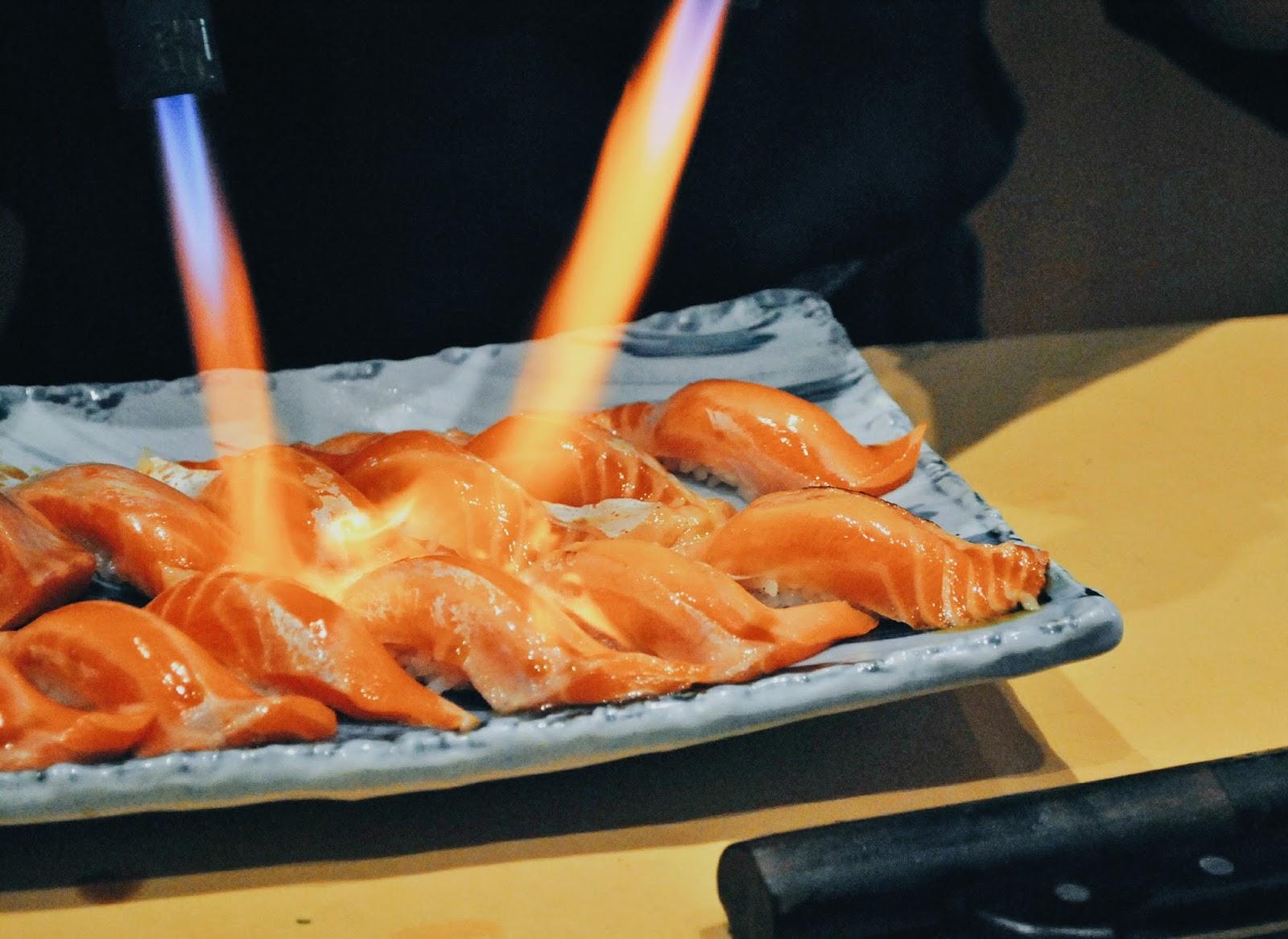 Sushi Masa - Penjaringan : Tak Terlupa Sepanjang MASA - Aburi Salmon
