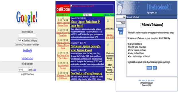 Begini Awalnya Tampilan Situs Web Terbesar di Dunia dan Indonesia Dulu