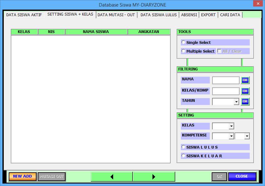 Download Aplikasi SIM Sekolah Sim Siswa Terbaru. Aplikasi SIM Siswa dengan Macro VBA Excel Terbaru