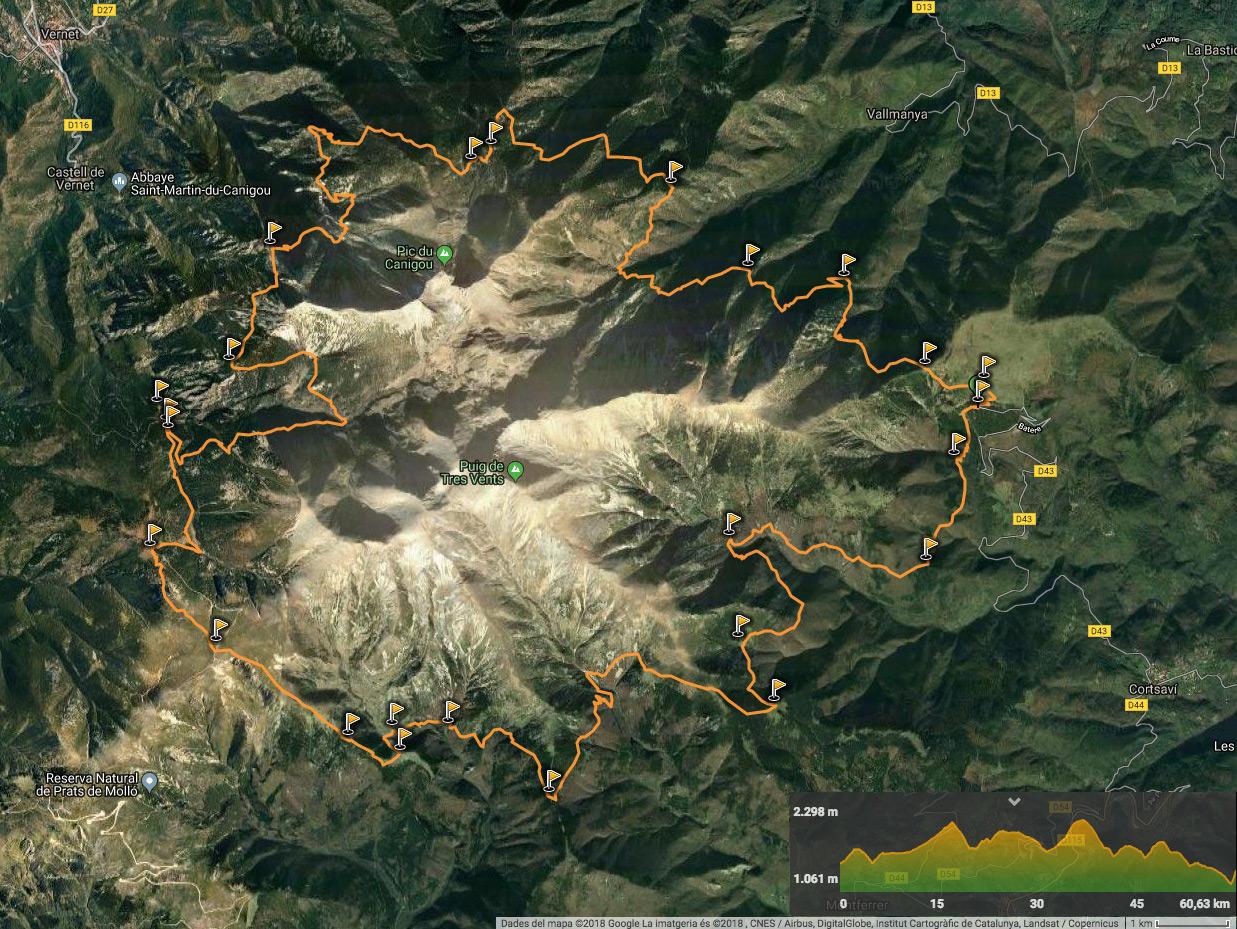 Tour du Canigou WIKILOC