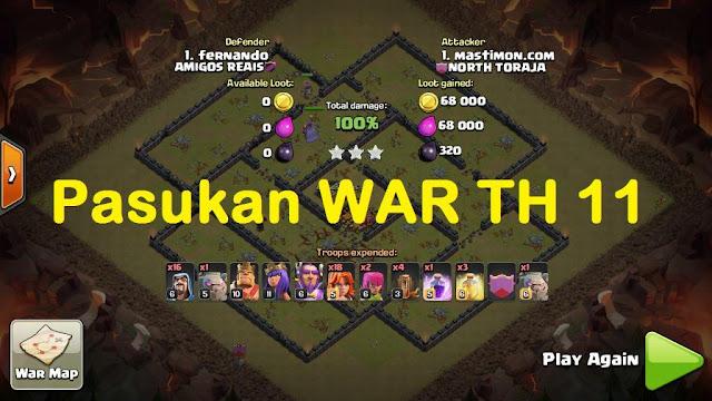 Pasukan WAR TH 11 game COC | serangan Udara dan Darat yang ampuh
