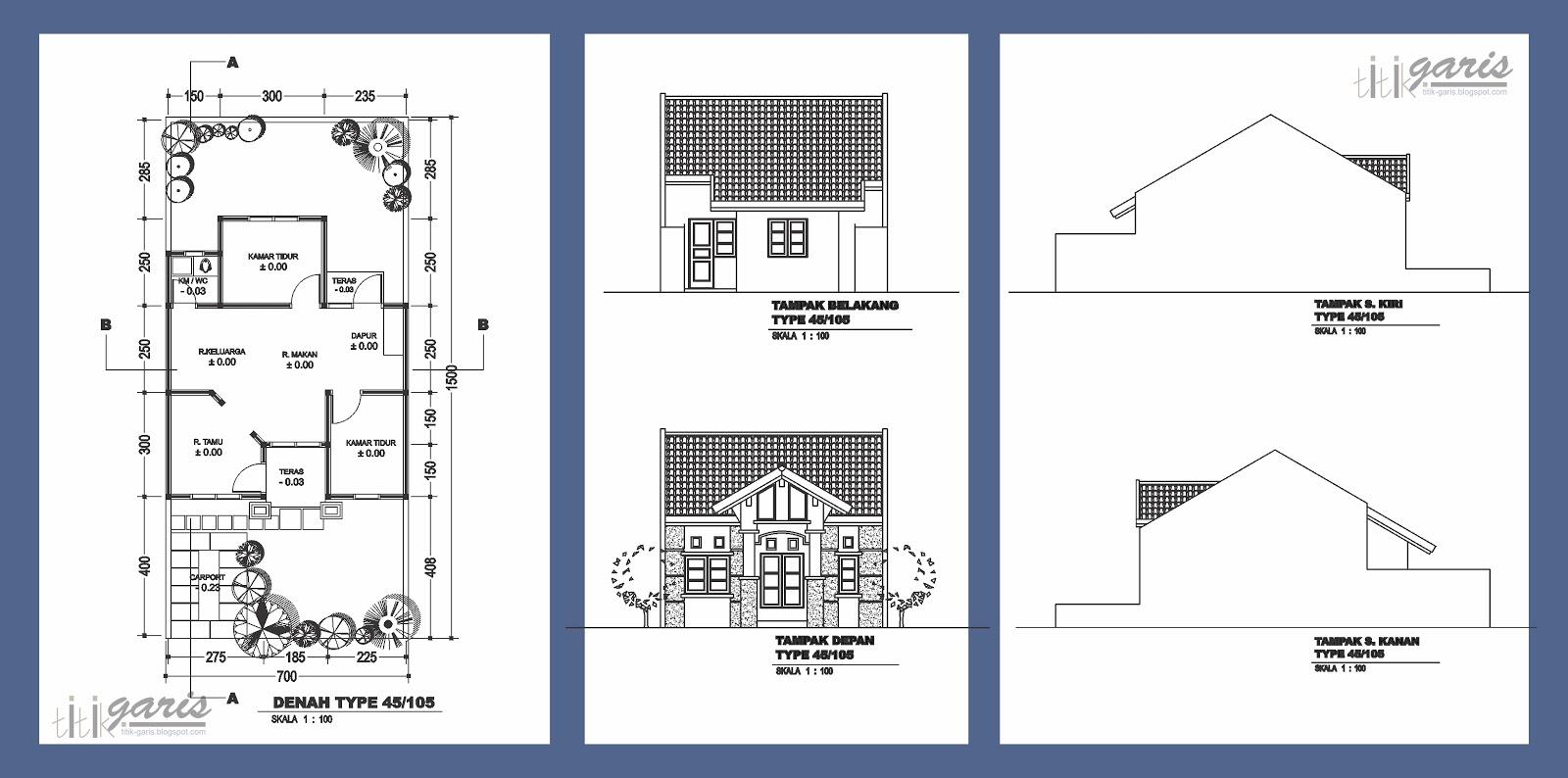 105 Denah Rumah Minimalis Berbagai Type Gambar Desain Rumah Minimalis
