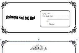 Kumpulan Contoh Undangan Tahlil Lengkap Haul 40 Hari, 100 Hari dan 1000 Hari
