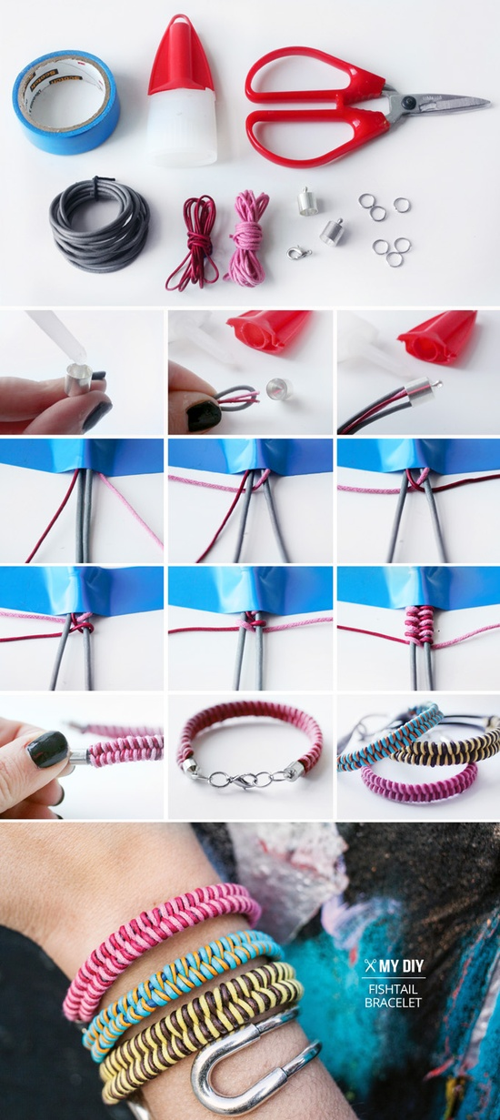 I Spy DIY Fishtail Bracelets