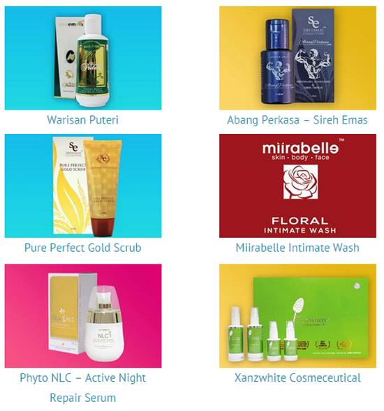 SihatDanAnggun.com - Rangkaian Prodok Kosmetik Herba Selamat dan Halal