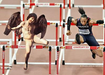 fotomontaggio Caravaggio-Olimpiadi Rio 2016