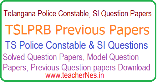 Telangana Police SI Constable Model Practice Question Papers 2018