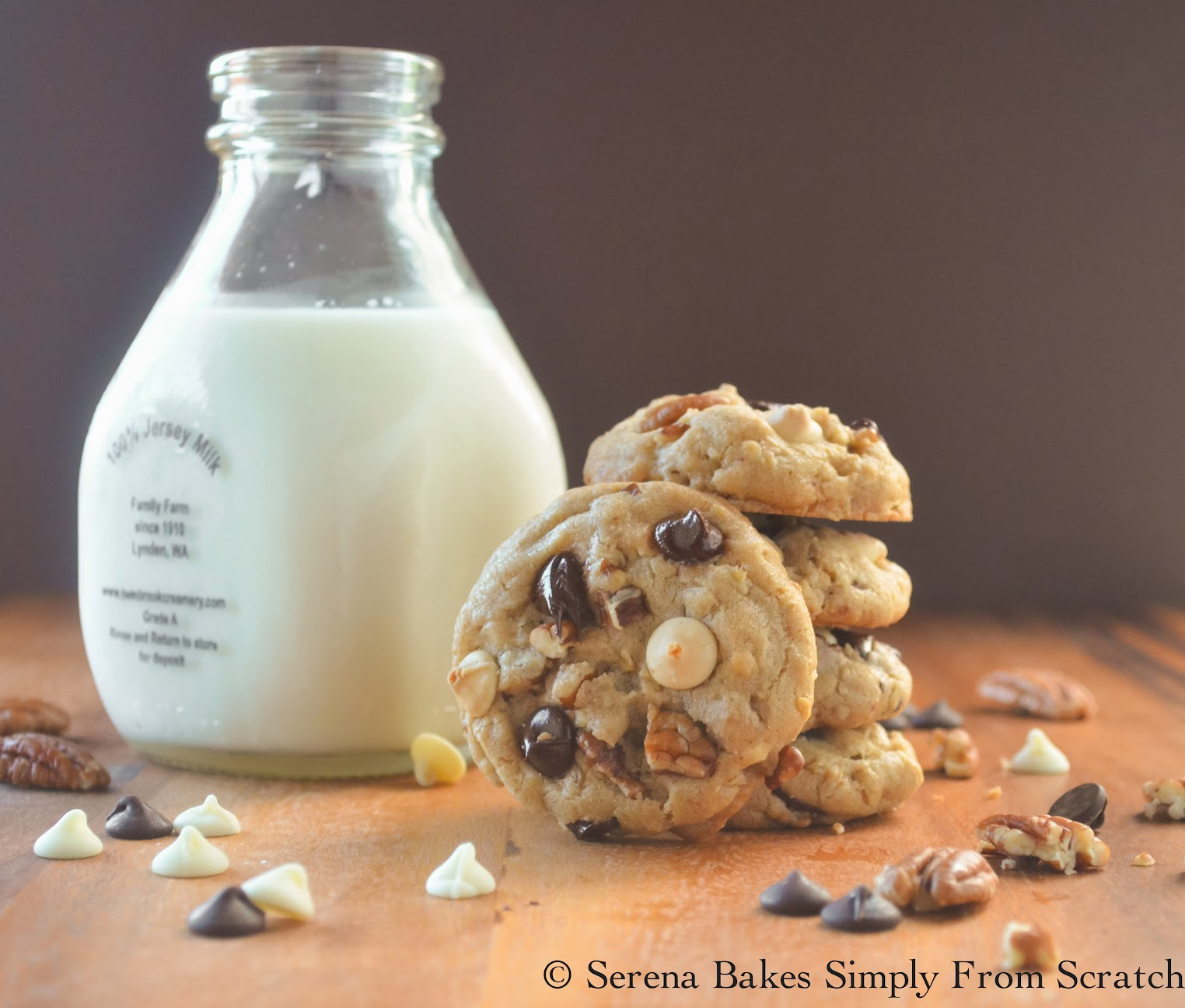 I Want To Marry You Chocolate Chip Cookies with Milk: Serena Bakes Simply From Scratch