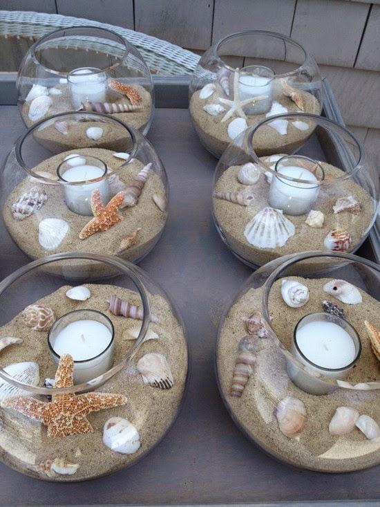 Bridal Shower Beach Theme Table Decorations Photograph | bea