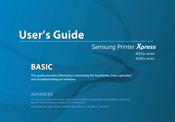 Samsung Printer Xpress M2825DW Manual Cover