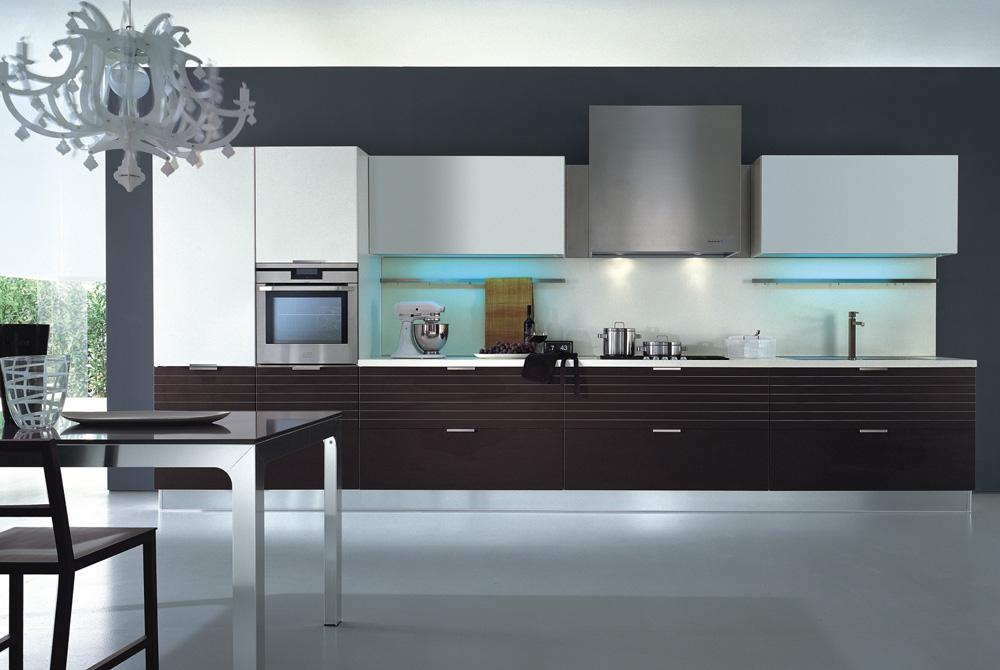 Cocinas lineales: la combinación de colores - Cocinas con estilo