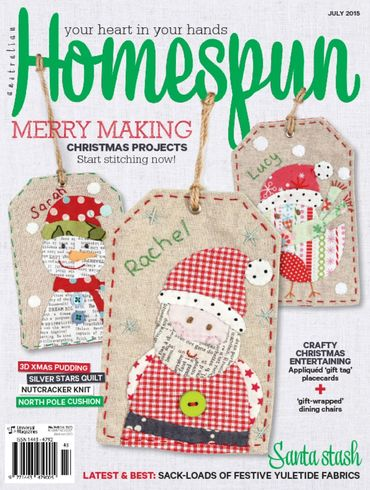 On the Cover of Homespun July 2015