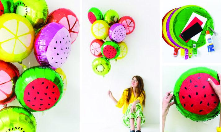 ballons thème fruit