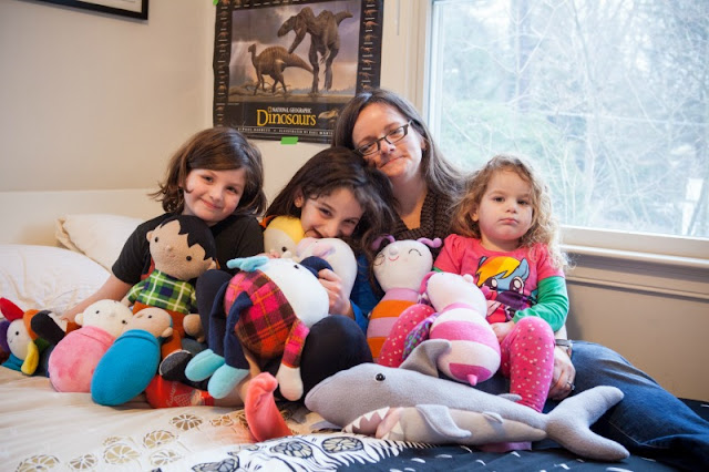 Abby Glassenberg, Interview, Sewing, soft toys, family