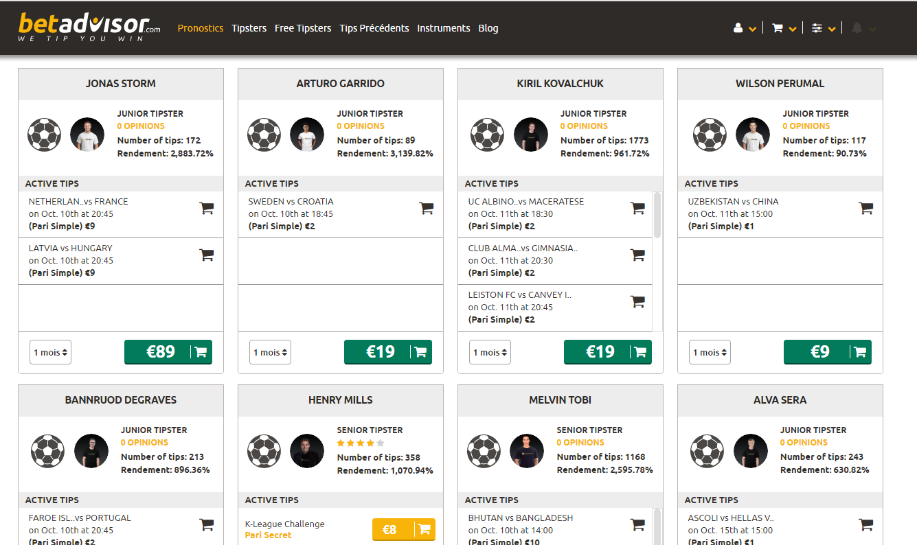betadvisor - Gestion bankroll, cote et match