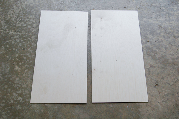 Pre cut birch plywood for handmade flash card wall art
