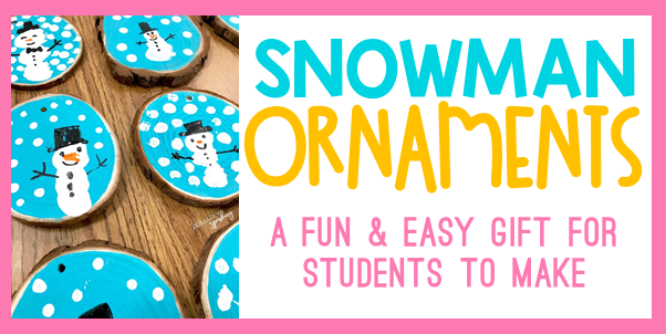 thumbprint snowman ornaments tutorial