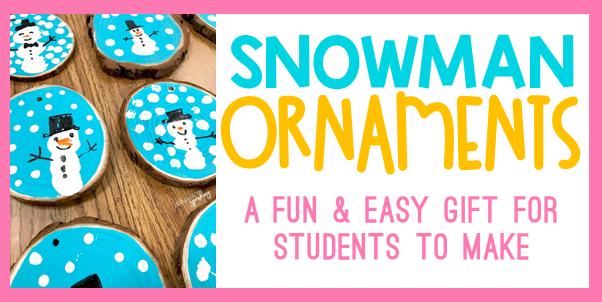 thumbprint snowman ornaments tutorial