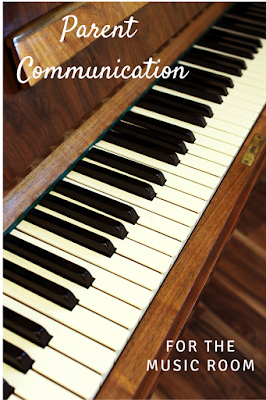Looking for ways to communicate with your parents about your music lessons, music concerts, and more? This post includes helpful tips, with newsletter ideas, blog ideas, and report card communication.