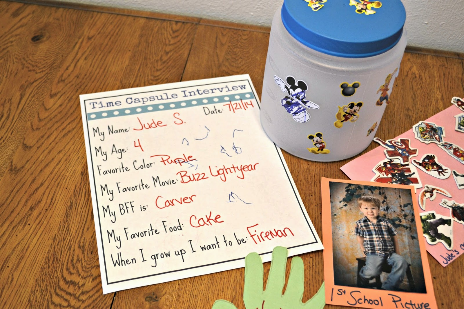 Time Capsule For Preschoolers Craft Amp Dollar Tree T Card Giveaway Building Our Story