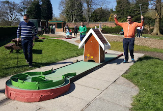 Crazy Golf course at Haigh Woodland Park in Wigan