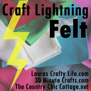 Caft Lightning Felt Graphic made by Carolina Moore of 30 Minute Crafts